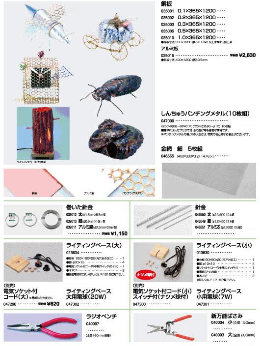 銅板|アルミ板|しんちゅうパンチングメタル|金網|針金|ライティングベース|ラジオペンチ|新万能ばさみ