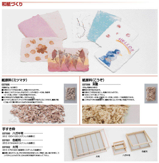 紙原料|手すき枠