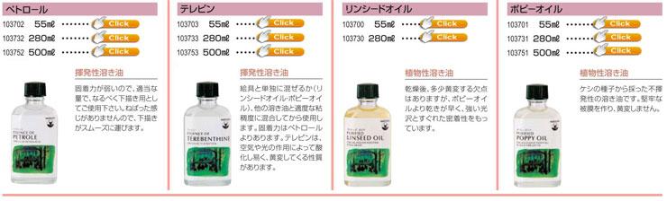 マツダ 画用液ペトロ−ル|テレピン|リンシ−ドオイル|ポピ−オイル