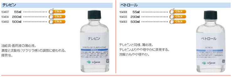 クサカベ画用液テレピン|ペトロール