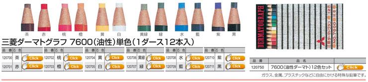 三菱鉛筆 ダーマトグラフ7600(油性)