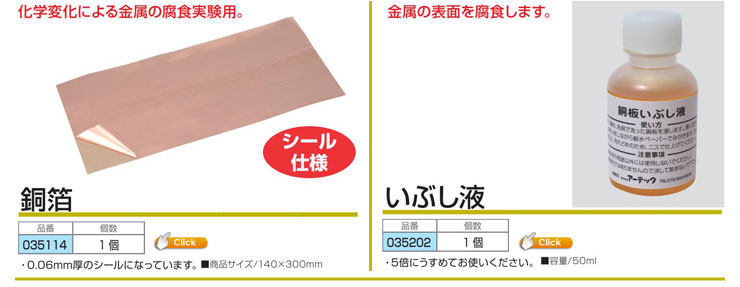 銅箔(タック付) |いぶし液