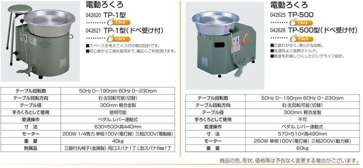 電動ろくろ TP-1型 電動ろくろ TP-500