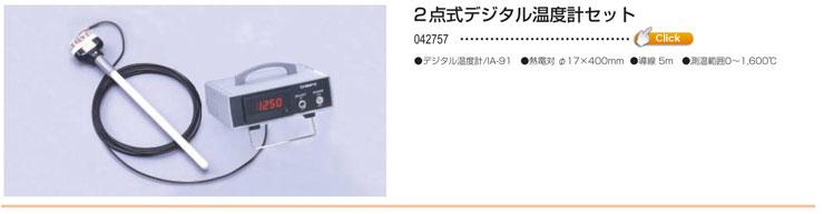 2点式デジタル温度計セット