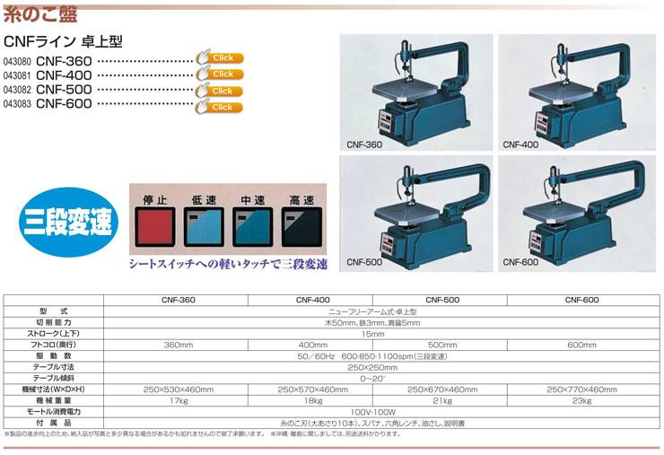 三段変速糸鋸板 CNF