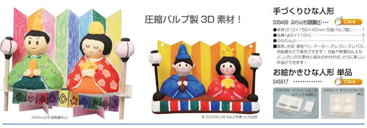 手づくり ひな人形(ふわりん小付)|お絵かき ひな人形