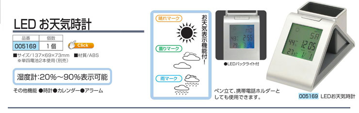 LEDお天気時計