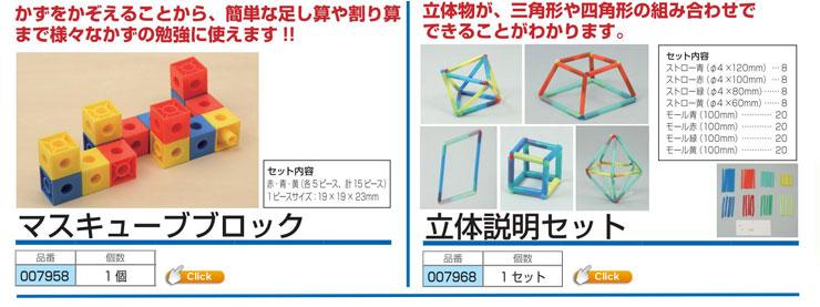 マスキューブブロック|立体説明セット