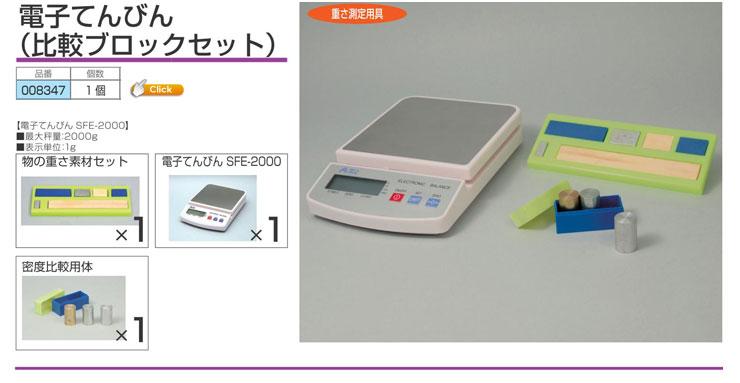 電子てんびん(比較ブロックセット)