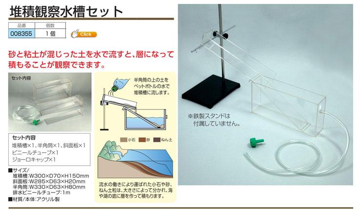 堆積観察水槽セット