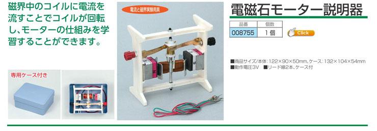 電磁石モーター説明器