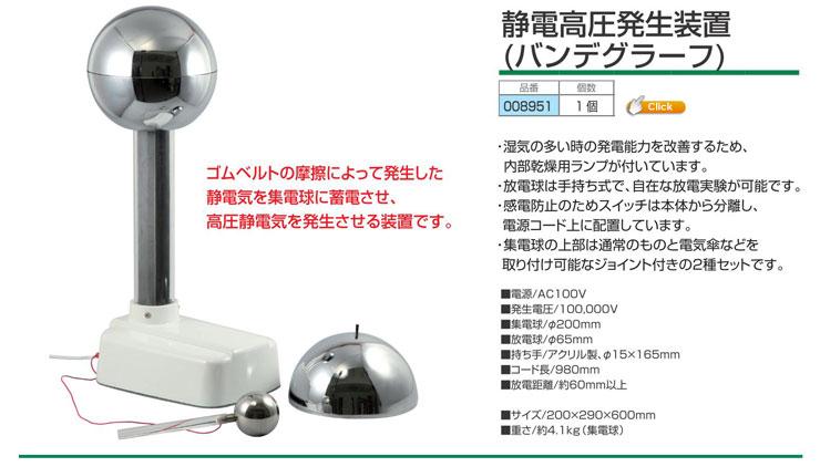 静電高圧発生装置(バンデグラーフ)