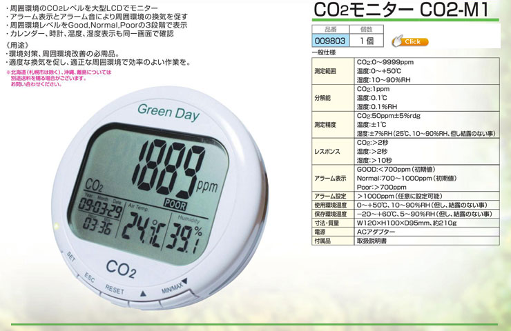 CO2モニター CO2-M1