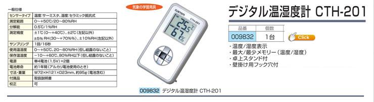 デジタル温湿度計 CTH-201