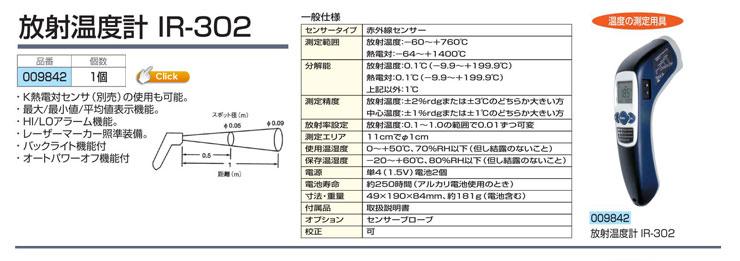 放射温度計 IR-302